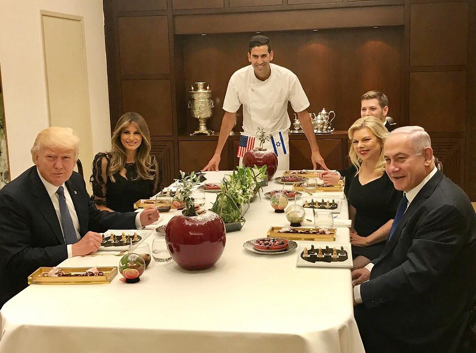 תוצאת תמונה עבור יאיר נתניהו  ארוחה עם טראמפ במעון ראש הממשלה