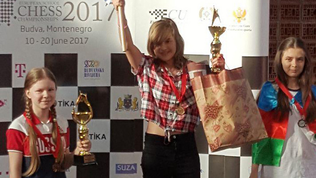 14-летняя Мишель Каткова из Израиля стала чемпионкой Европы по шахматам(ВИДЕО)