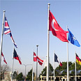 Flags of NATO member countries Photo: AP