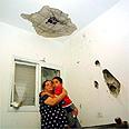 Sedrot home hit by Qassam Photo: Danny Salomon