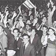 Celebrations in Tel Aviv after the vote Photo: GPO