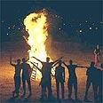 Traditional bonfires at Lag b'Omer Photo: GPO