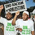 Anti-Israel protest at first Durban conference Photo: Reuters