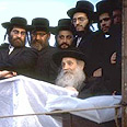 Haredi MKs &#39;only interested in glory, power, money and seats.&#39; Satmar Hasidim Photo: GPO