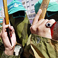 Hamas rally last month for killing of Yassin Photo: Reuters