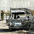 Palestinians fired at Israeli vehicle in West Bank, igniting it and killing one Israeli Photo: AP