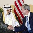 Saudi King Abdullah with Bush (Archives) Photo: AP