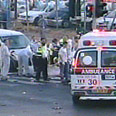 Ambulance at scene of the bombing Photo: Channel 1