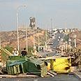 Road blocked in Morag Photo: Aya Ben-Amos