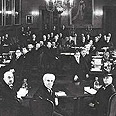 דוד בן-גוריון (במרכז מלפנים) בועידת השולחן העגול בסנט ג'יימס, לונדון, 1939