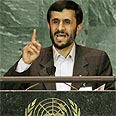Ahmadinejad at UN (archives) Photo: Reuters