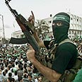 Hamas rally Photo: Reuters