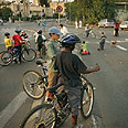 Jerusalem kids on their bicycles (archives) Photo: AP