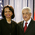 Rice and PA Chairman Abbas Photo: Reuters