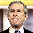 Bush. Upset AIPAC Photo: AFP
