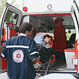 Evacuation of wounded from scene of the blast Photo: Ofer Amram