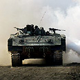 IDF tank near Gaza Photo: AFP