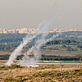 Palestinians utilize new rocket-launching method Photo: Amir Cohen