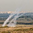Palestinians utilize new rocket-launching method Photo: Amir Cohen