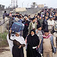 Palestinians cross over into to Egypt Photo: AP