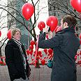 Red balloons in New York Photo: Shahar Azran