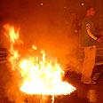 Residents protest Qassam attacks Photo: Amir Cohen