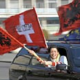 Albanians celebrate Photo: AFP