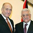 Abbas-Olmert met last week Photo: AFP