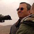 Defense Minister Ehud Barak at border (Archives) Photo: Ariel Hermoni