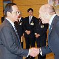 Olmert and Fukuda Photo: Moshe Milner, GPO