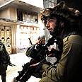 Givati soldiers in Gaza Photo: IDF Spokesperson's Office