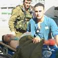 Injured soldier evacuated Photo: Herzl Yosef