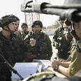 IDF soldiers in Kissufim Photo: Reuters