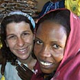 Rachel Andres with Darfur refugee Photo: Jewish World Watch