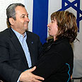 Barak comforts bereaved parents Photo: Ariel Hermoni