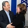 Barak comforts bereaved parents Photo: Ariel Hermoni