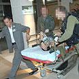 Wounded soldier evacuated to Soroka Photo: Haim Horenstein