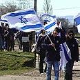 Israeli youth in Auschwitz Photo: Yehonatan Tzur