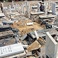 Damage left in cemetery Photo: Tsafrir Abayov