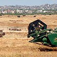 Field near Kibbutz Be'eri. 'Open area' not always good news Photo: Yonat Atlas