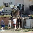House hit by Qassam Photo: Ze'ev Trachtman