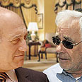 Let the battle begin. Olmert and Talansky Photo: Guy Asyag, GPO