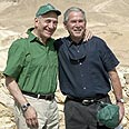 Ehud and George's swan song Photo: AFP