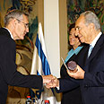 President Peres to award prizes in May (archives) Photo: Sasson Tiram