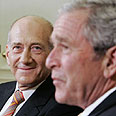 Peace vision still alive – Bush and Olmert Photo: Reuters