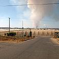Mortar shell lands in open field (archives) Photo: Zeev Trachtman