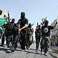 Hamas gunmen in Gaza. Waiting. Photo: AFP