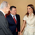 Jordan's royal couple with Israeli President Shimon Peres Photo: Moshe Milner, GPO