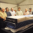 Coffins of kidnapped soldiers Photo: Assaf Ravitz, Defense Ministry