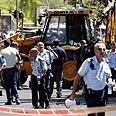 Scene of Tuesday's attack Photo: Dudi Vaaknin